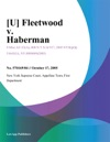 Fleetwood V Haberman