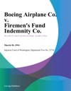 Boeing Airplane Co V Firemens Fund Indemnity Co
