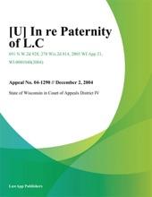 In Re Paternity Of L.C.