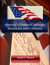 America's Greatest Challenge: Succession And Continuity