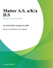 Download Matter A.S. a/K/a D.S