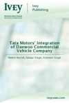 Tata Motors Integration Of Daewoo Commercial Vehicle Company