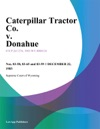 Caterpillar Tractor Co V Donahue