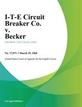 I-T-E Circuit Breaker Co. v. Becker