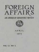 Foreign Affairs - April 1973