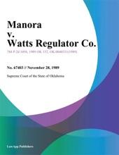 Manora v. Watts Regulator Co.