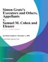 Simon Gratzs Executors And Others Appellants V Samuel M Cohen And Eleazer
