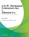 GEW Mechanical Contractors Inc V Johnston Co