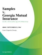Samples V. Georgia Mutual Insurance