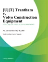UT Trantham V Volvo Construction Equipment
