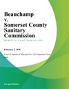 Beauchamp V Somerset County Sanitary Commission