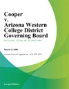 Cooper V Arizona Western College District Governing Board