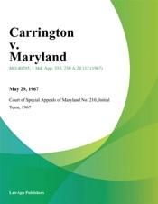Download Carrington v. Maryland