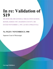 In Re: Validation Of $19