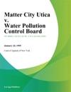 Matter City Utica V Water Pollution Control Board