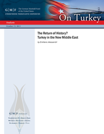 The Return of History? Turkey in the New Middle East book