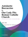 Antoinette Boccaccino V Our Lady Pity Roman Catholic Church