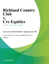 Richland Country Club V Crc Equities