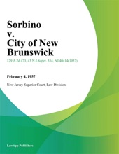 Sorbino V. City Of New Brunswick