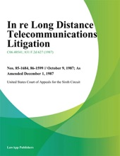In Re Long Distance Telecommunications Litigation