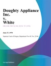 Doughty Appliance Inc V White