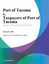 Port Of Tacoma V. Taxpayers Of Port Of Tacoma