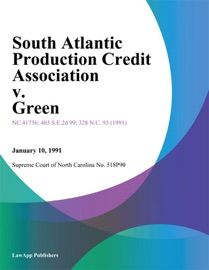 SOUTH ATLANTIC PRODUCTION CREDIT ASSOCIATION V. GREEN