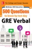 McGraw-Hill Education 500 Questions to Know by Test Day: GRE Verbal