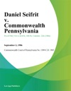 Daniel Seifrit V Commonwealth Pennsylvania
