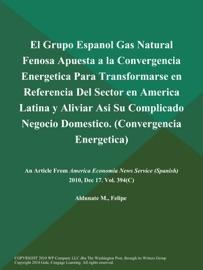 El Grupo Espanol Gas Natural Fenosa Apuesta A La Convergencia Energetica Para Transformarse En Referencia Del Sector En America Latina Y Aliviar Asi Su Complicado Negocio Domestico Convergencia Energetica
