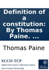 Definition Of A Constitution By Thomas Paine