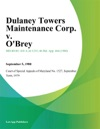 Dulaney Towers Maintenance Corp V OBrey