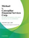 Michael V Caterpillar Financial Services Corp