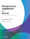 Western Gas Appliances V Servel