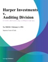 Harper Investments V Auditing Division