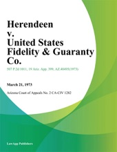 Herendeen V. United States Fidelity & Guaranty Co.
