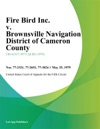 Fire Bird Inc V Brownsville Navigation District Of Cameron County