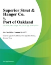 Superior Strut  Hanger Co V Port Of Oakland