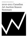2010-2011 Canadian Art Auction Season Summary