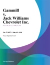 Gammill V Jack Williams Chevrolet Inc