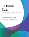 Thomas V Robb
