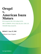 Oregel V. American Isuzu Motors
