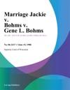 Marriage Jackie V Bohms V Gene L Bohms