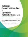 Belmont Constructors Inc V Lyondell Petrochemical Co