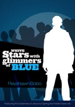 White Stars With Glimmers Of Blue