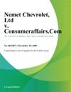 Nemet Chevrolet Ltd V Consumeraffairscom Inc
