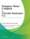 Pompano Motor Company V Chrysler Insurance Co