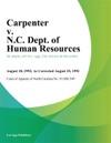 Carpenter V NC Dept Of Human Resources