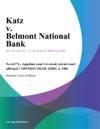 Katz V Belmont National Bank