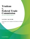 Trudeau V Federal Trade Commission
